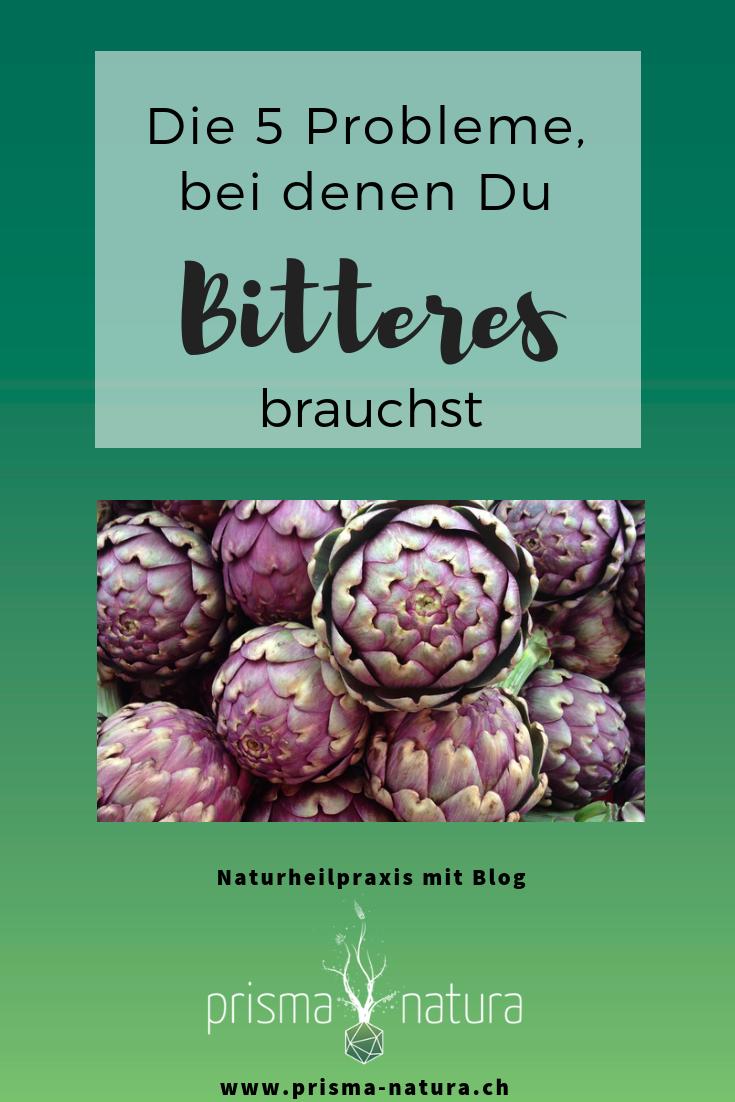 Pinterestgrafik 5 Gründe, warum Du Bitterstoffe brauchst!
