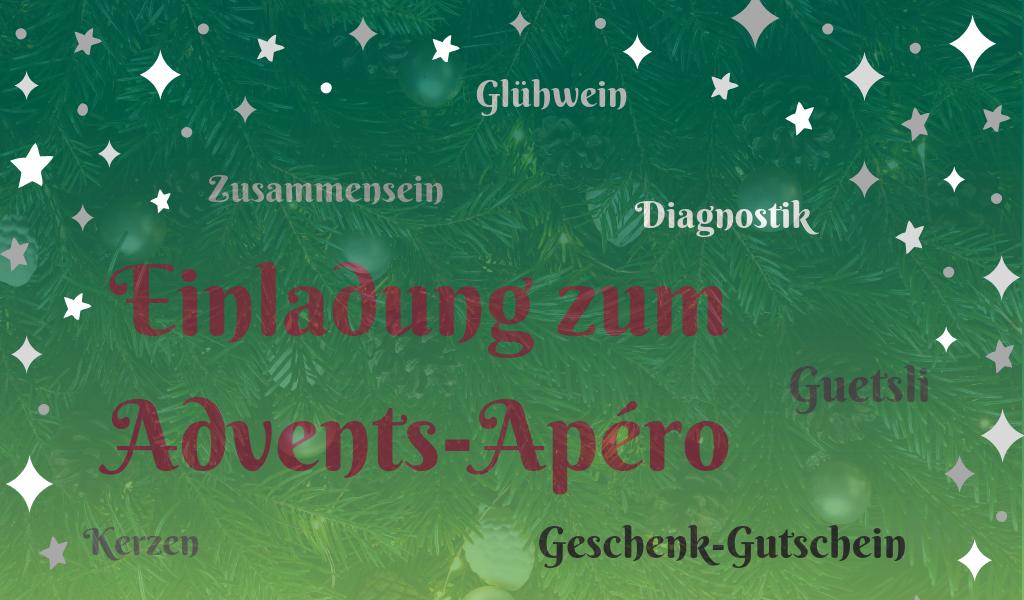 Blogbeitrag Titelbild Adventsapero Einladung